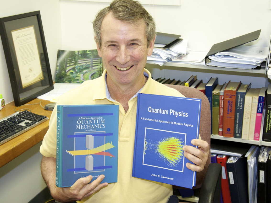 John Townsend with his two books